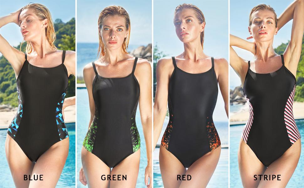 beautyin women one piece swimsuits water aerobics