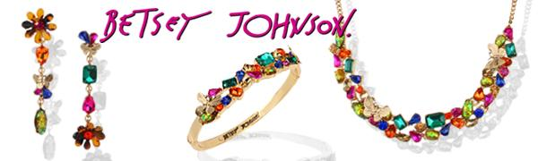 Betsey Johnson stone jewelry collection banner