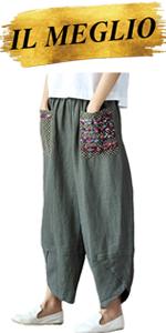 Pantaloni Sciolto Donna