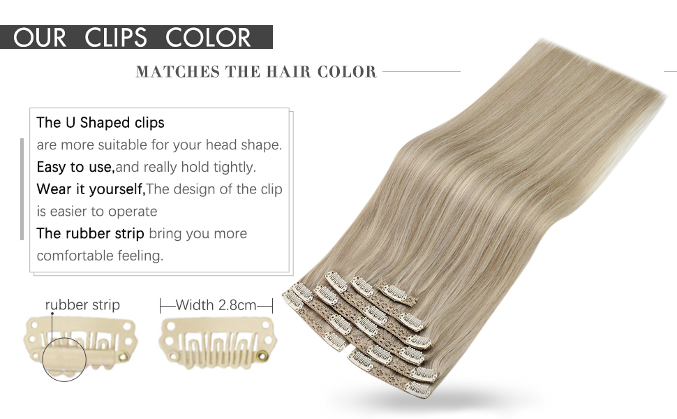 clip in blonde highlights hair extensions
