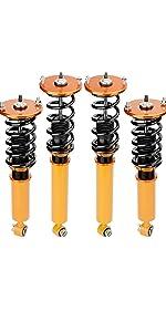 maXpeedingrods Coilovers Kit Nissan Spring Shock Absorber Struts Adjustable Height Mount