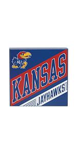 University of Kansas wood block