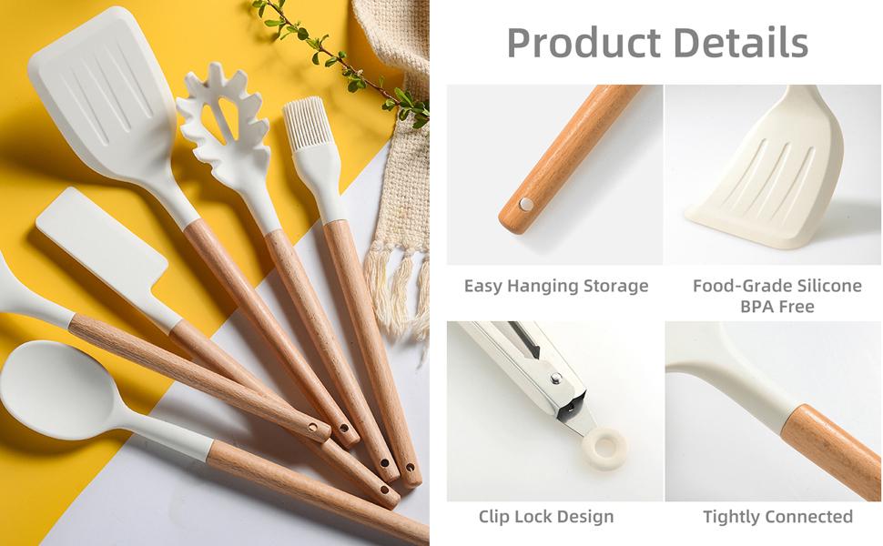 silicone utensil set