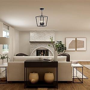 Black Pendant Lighting for Living Room