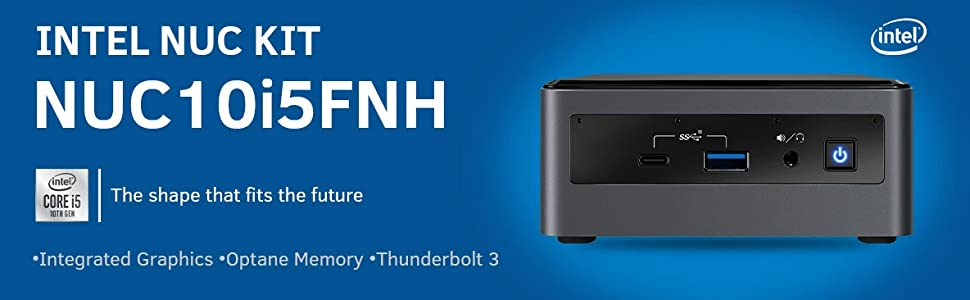 Intel NUC Kit NUC10i5FNH with Core i5-10210U Processor