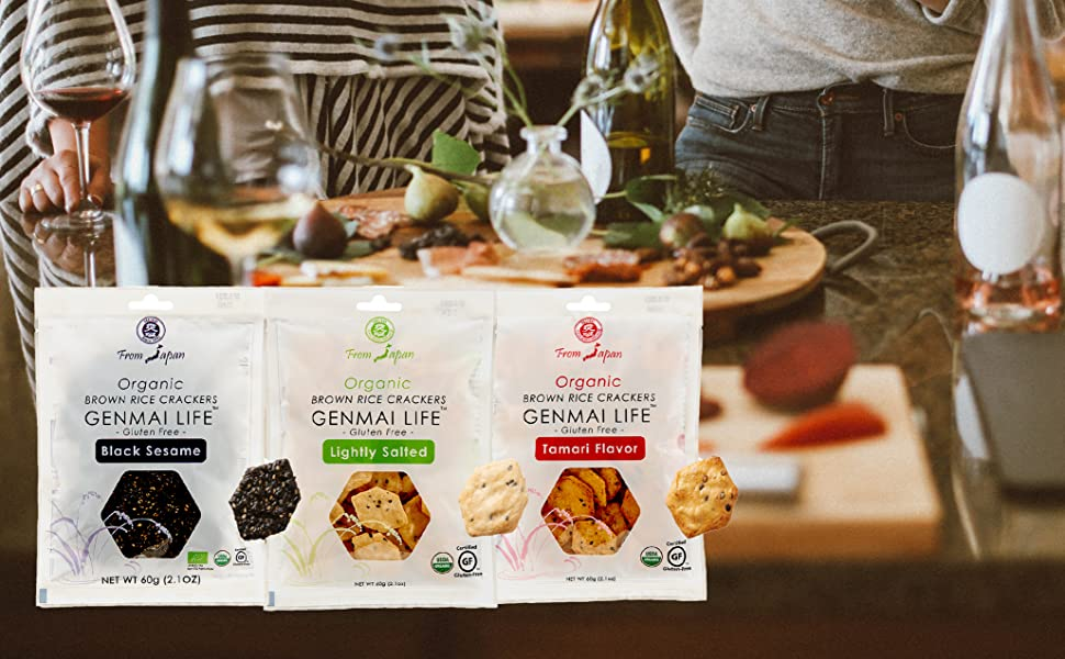 Muso From Japan Organic Brown Rice Crackers Genmai Life
