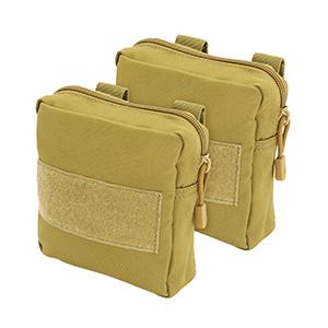 2 travel pouches