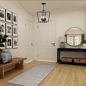 Black Pendant Lighting for Foyer
