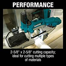 performance cutting capacity ideal for cutting multiple types of materials