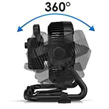 RUNACC Portable Ventilateur de Sol avec Lumière