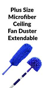 Plus Size Microfiber Ceiling Fan Duster Extendable