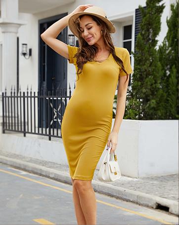 maternity dress ribbed