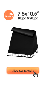 Metronic Poly Mailers 7.5x10.5 Black