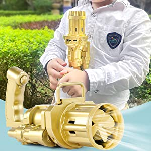Gatling Model Porous Bubble Machine Bubble Guns Automatic Bubble Machine Electric Bubble Gun Toy