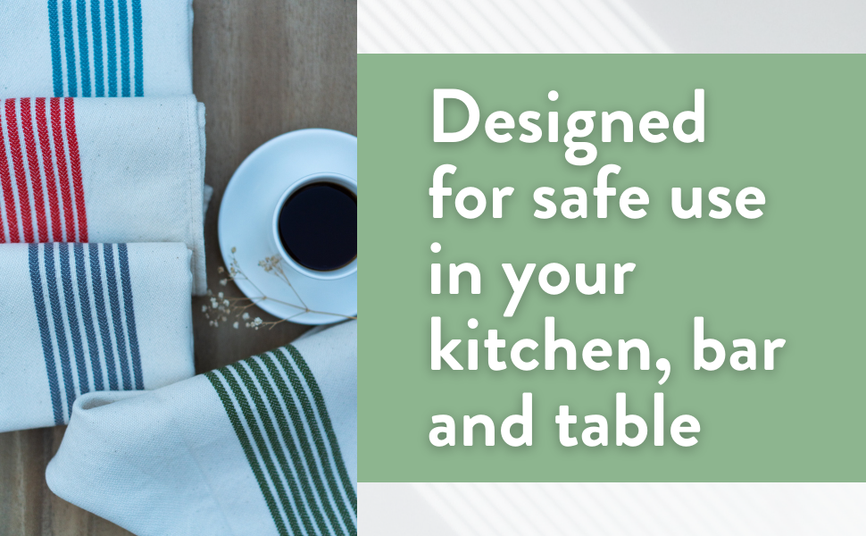 designed for safe use in your kitchen bar and table