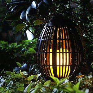 Solar hanging garden lights