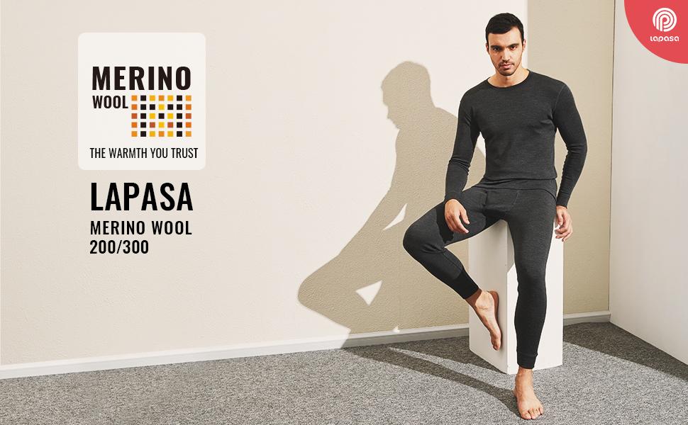 Men's Merino Wool Base Layer Top