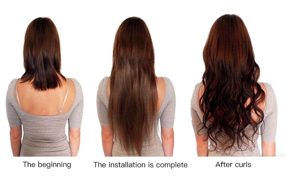 hair extensions clip in human hair thick clip on human hair