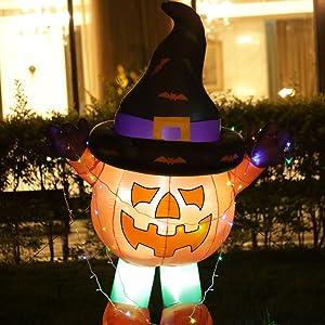large inflatable pumpkin