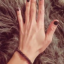 Purple Amethyst Bracelet Handmade Gemstone Beaded Crystal Healing Chakra Charm