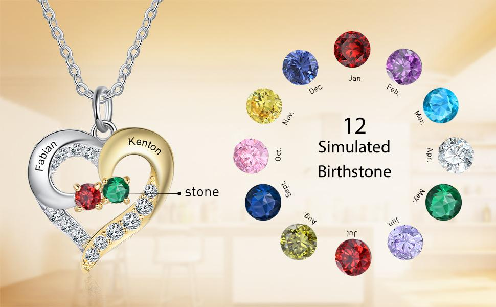 birthstone necklace for women