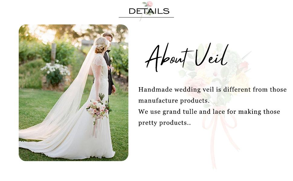Bridal veil ivory white for women and girls