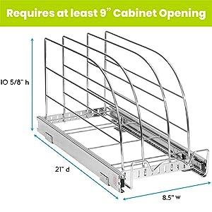 sliding cabinet organizer