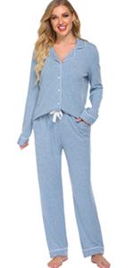 casual long sleeve pajama set