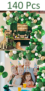Jungle groene ballon boog