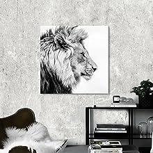 lion king wall art canvas