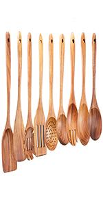 wooden spoons set