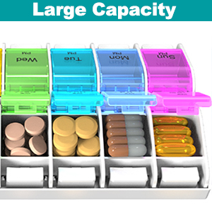 large pill organizer 2 times a day
