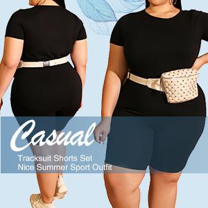 Plus Size Shorts Set