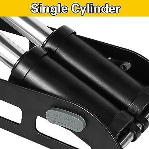 Dual-Cylinder Bike Foot Pump