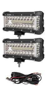 Side Shooter LED Light Pods Wiring Harness Kit