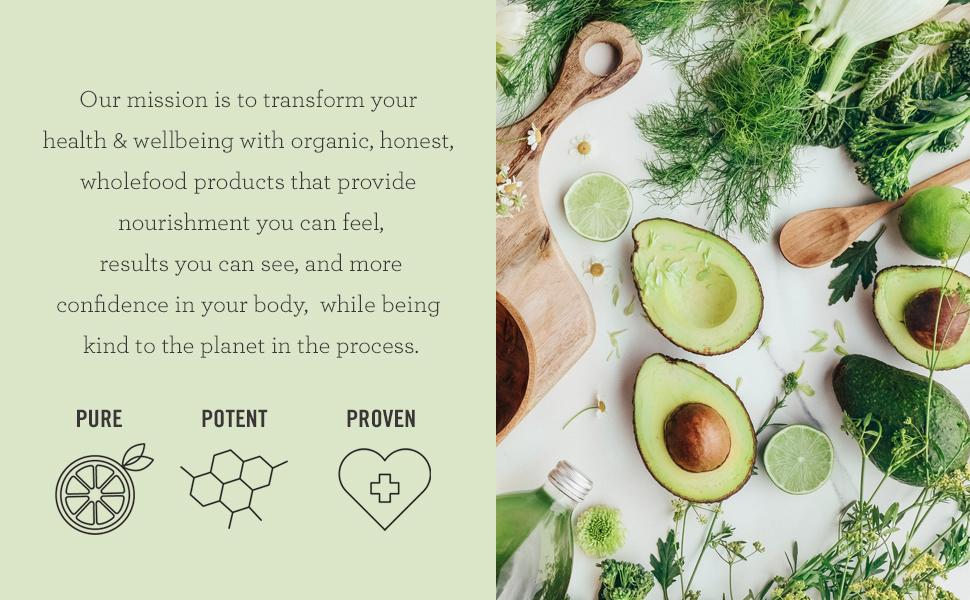 Nutra Organics mission organic premium