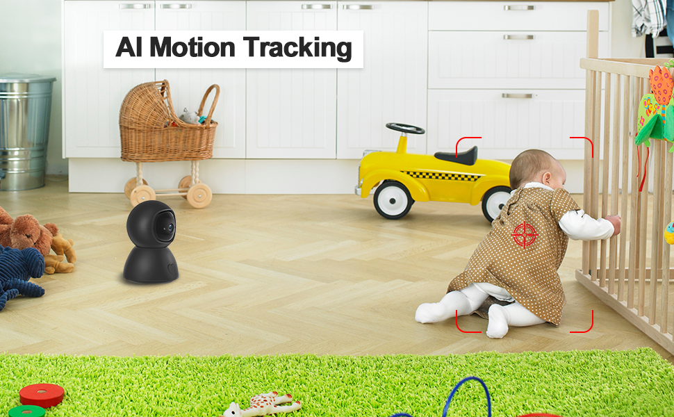 EVERSECU 2.4GHZ and 5Ghz Dual Band wifi seucrity Camera auto tracking baby pet dog edlerly camera