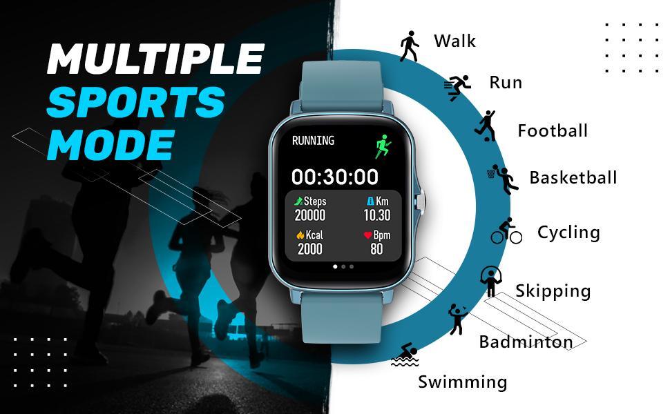 multi sports mode smart watch