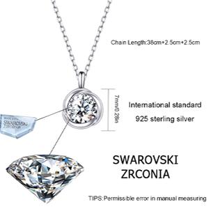 Neuf Plus Attrayant Pendentif Cœur Vrai 925 Sterling Argent Blanc Cristal Zircon
