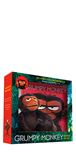 Grumpy Monkey Book and Toy Set by Suzanne Lang; Illustrated by Max Lang
