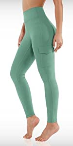 ODODOS Womens High Waist Yoga Leggings with Cargo Pockets