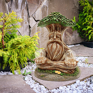 zen outdoor decor solar powered garden gnome satue