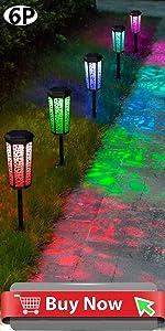 6 Pack Solar Garden Pathways light