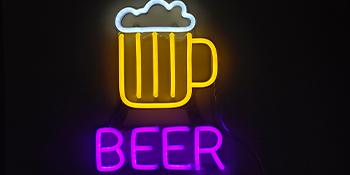 Vasten custom beer neon sign