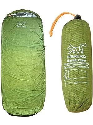FUTURE FOX 寝袋 エマージェンシー 防災 グッズ マミー型 インナーシュラフ コンパクト 小型 軽量 保温