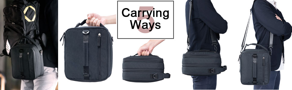 Multiple Carrying Ways of VENLING Expandable Lunch Bag