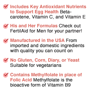 FertilAid for Women, Fertility Supplement for Women and Natural Fertility Vitamin with Vitex