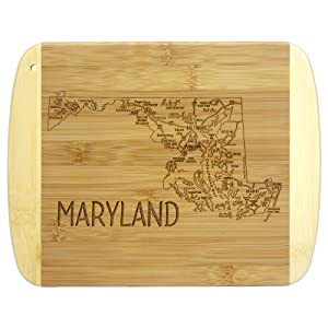 A Slice of Life Maryland Bamboo Serving and Cutting Board