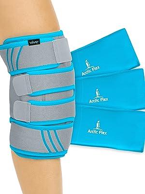 knee ice wrap with ice packs
