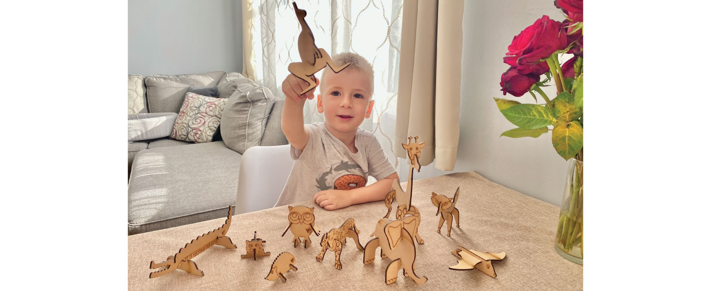 Unlimited Fun & Play with 3D Wooden Animal Puzzles